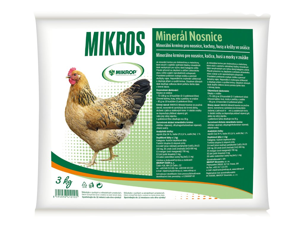 Mikros Mineral nosnice 3 kg